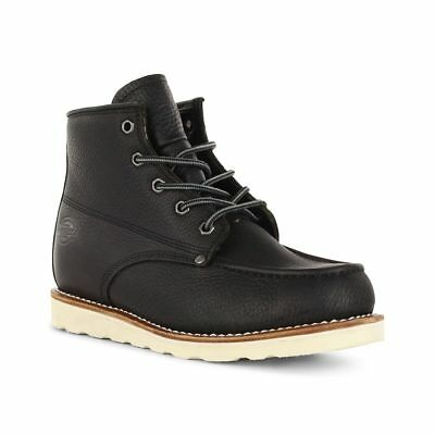 Dickies Shoes Illinois Boot - Black Leather