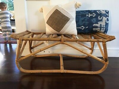 Vtg Mid Century/ Hollywood Regency Bamboo Bentwood Bench