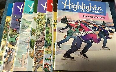 Lot Of 10 Vintage Highlights For Children Magazines From 1991