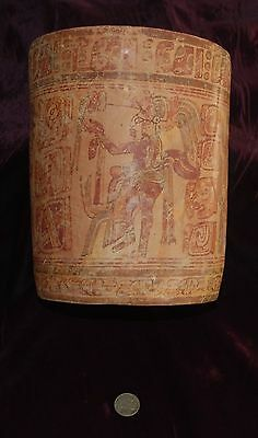 Pre-Columbian ~ MAYAN ~ Pre-Colombian Large Polychrome VESSEL ~ NR