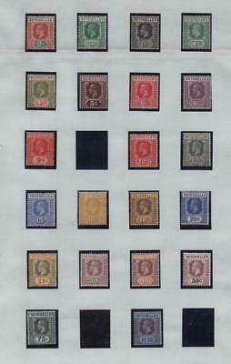 SEYCHELLES: George V Mint Examples - Ex-Old Time Collection - Album Page (10709)