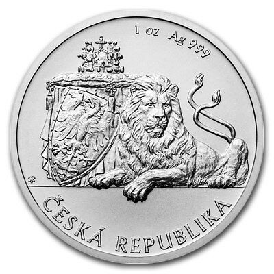2017 Niue $1 1 oz Silver Czech Lion Coin BU *In Stock* (First, Only 10K Minted)