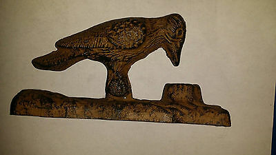 Vintage HUBLEY ? Cast Iron Figural WOODPECKER Bird Door Knocker + Original Paint