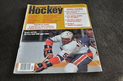 Action Sports Hockey February 1976 Potvin Dionne Andy Brown