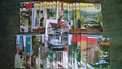 60 vintage MG collectors classic car safety first ! magazines job lot
