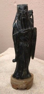 Carved Soapstone Figurine Of Wise Asian Man