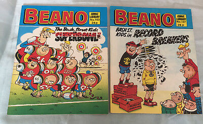 2x Beano Comic Library Issues No.103/127 Bash St Kids, Superbowl/Record Breakers