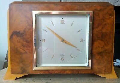art deco mantel clock made by Elliot in excellent condition