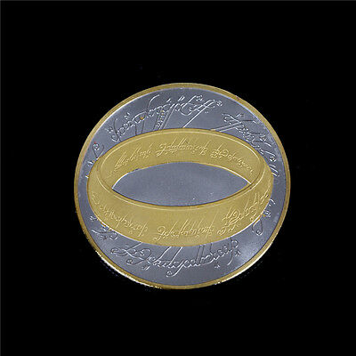 1x Double Color New Zealand The Lord of The Ring Commemorative Coin CollectionWT