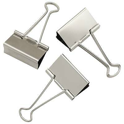 """Staples Large Satin Silver Metal Binder Clips, 2"""" Size with 1"""" Capacity"""