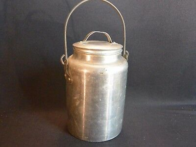 PURE Aluminum 2-QT Milk Cream Pail, Miner's Lunch Pail with Lid & Handle