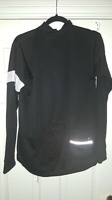 Mens RAPHA CLASSIC LONG SLEEVED JERSEY XL Black Merino Blend