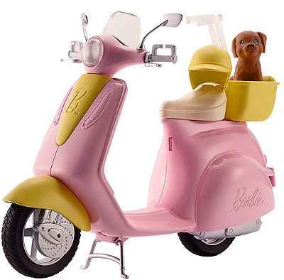 Barbie Doll Toy Scooter Motorcycle Moped Pet Dog
