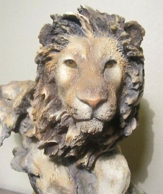 Lion Sculpture By Randall Reading Mill Creek Studios Ltd Ed Signed 114/5500