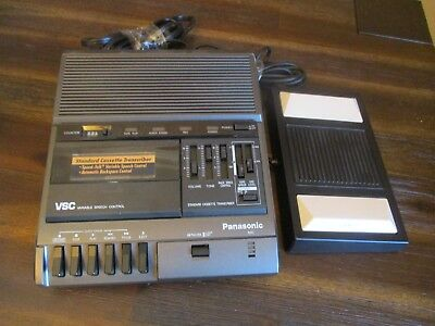 Panasonic RR-830 Dictation Transcriber Machine Cassette Tape WIth Foot Pedal
