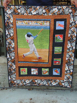 Baseball Sidelights Quilt or Wall Hanging,  42x50