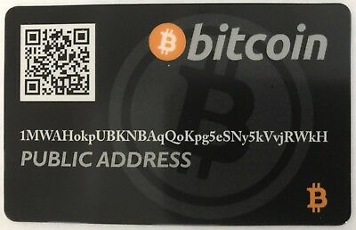 Bitcoin Wallet Card / Cold Storage / Gift Card / Debit Card *Black*