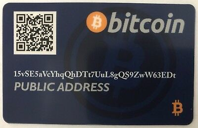 Bitcoin Wallet Card / Cold Storage / Gift Card / Debit Card *Blue*