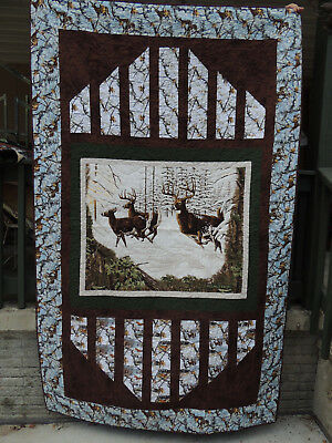 Reflections Real Tree Winter Deer Quilt Kit   54x86