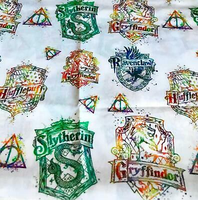 Harry Potter House crests print 50cm X 145cm Cotton/poly licensed fabric