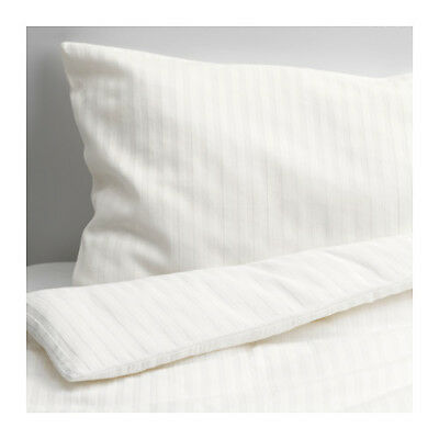 LEKLYSTEN Crib duvet cover/pillowcase, white, 100% cotton, *NEW* *FREE Shipping*