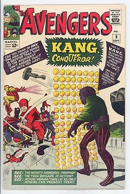 The Avengers #8 Sep 1964 Kang the Conqueror Unrestored VG ++ to Near Fine