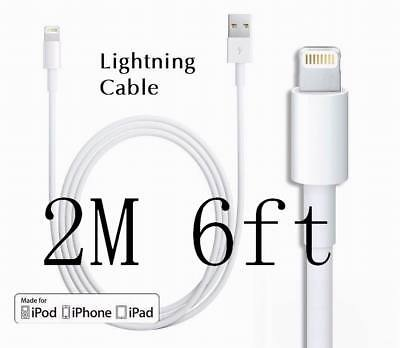 2M 6FT Lightning USB Cable for Apple iPhone5 5S 5C 6s Plus 6 7 Data Sync Charger