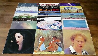 30 LOT Vinyl LP Record Vintage LIGHT CLASSIC ROCK FOLK Music