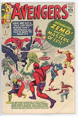 The Avengers #6 July 1964 Zemo Unrestored Silver Age Extremely Fine Condition
