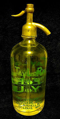 Antique Vintage Seltzer Bottle-Taylor's Selzter Water St. Louis Mo.seven Up