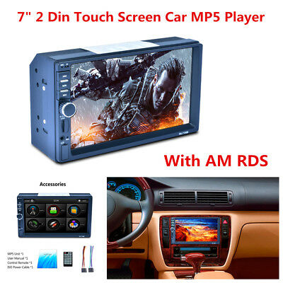 """7"""" HD 2DIN TFT Touch Screen Bluetooth Radio Stereo RM/FLV/3GP Car MP5 Player Kit"""