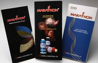 Marathon Polyester Embroidery machine thread: Colour Chart book