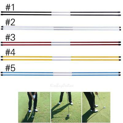 2pcs Golf Alignment Sticks Swing Tour Trainer Direction Rod Ball Striking Aid