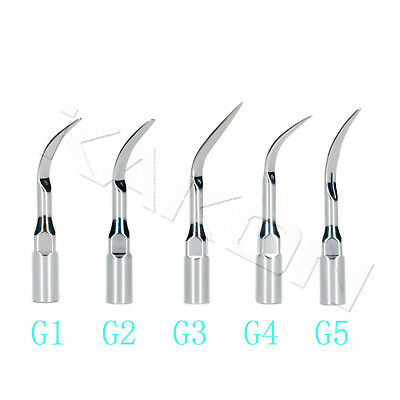 5 Pcs G1-G5 Dental Ultrasonic Scaler Scaling Tip For Woodpecker EMS Handpiece