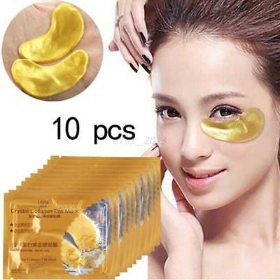 Crystal Collagen GOLD Anti-Wrinkle Anti-Ageing Under Eye Gel Patch Mask 10 Pairs