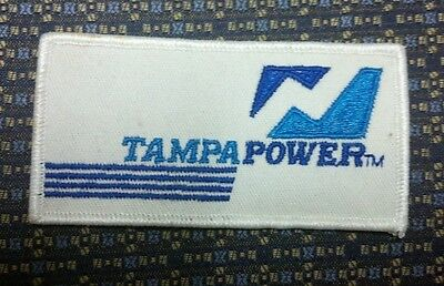 "TAMPA POWER Iron or Sew-On Patch 4""X2"""