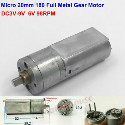 DC 9V 12V 193RPM Micro 310 Worm Gear Motor Small Mini Turbo Gearbox Gearmotor