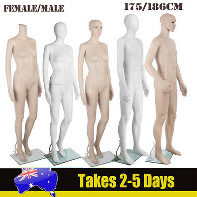 Male Female Mannequin Full Body Clothes Display Model Fashion Window Showcase AU