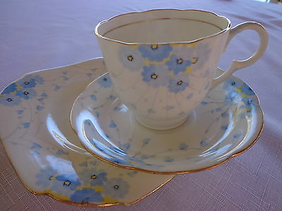 Handpainted Grafton China, Matching Cup, Saucer. Side Plate All From The 1930's