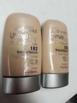 New 2 lot WET AND WILD wetnwild 182 natural spf 15 tinted moisturizer