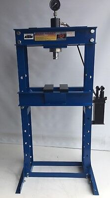 HYDRAULIC SHOP PRESS 30ton WITH RAM, GAUGE & TWO STAGE PUMP, (SP30)