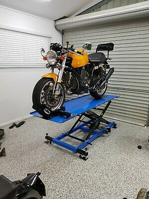 MOTORCYCLE LIFT BENCH AIR / HYDRAULIC HOIST  WORKBENCH (C6003Q2) @ DTM Trading