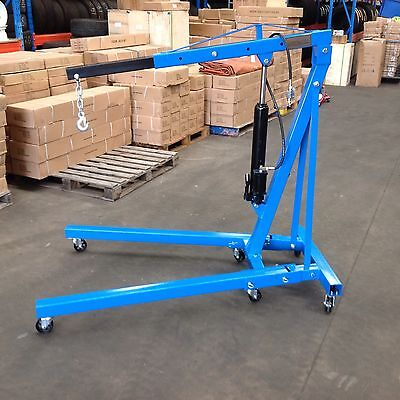 Engine Crane, Hoist Lifter,  Air / Hyd  2 Ton Rated Folding Legs (E5102A)