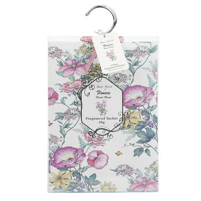 NEW Pilbeam Inner Spirit Floral Blend Scented Sachets Set 4pce