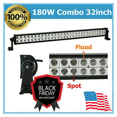180W LED Light Bar 32inch S&F Combo Beam Driving Off-Road Truck 4X4WD Boat Lamp