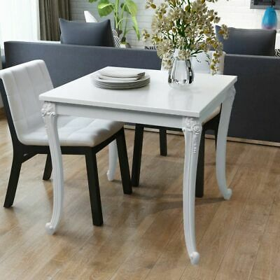 vidaXL High Gloss White Dining Dinner Table Kitchen Dining Room Home Furniture