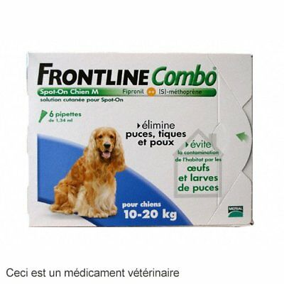 Frontline Combo Spot-On M Chien 10-20Kg 6 Pipettes