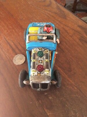 VERY RARE DREAM BOAT ROCK n' ROLL HOT ROD TIN CAR. MADE IN JAPAN 1950's.