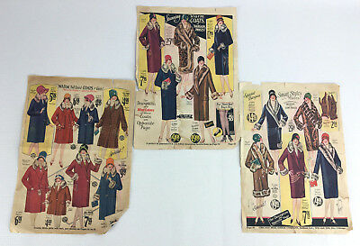3 Loose Advertising Pages From Vintage 1920s Chicago Mail Order Company Catalog