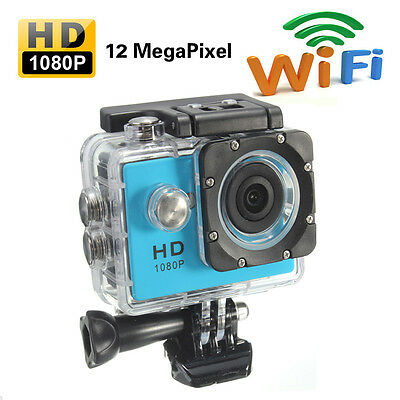 1080P Full HD 12MP SJ4000 WIFI 30M Waterproof Sports Action Camera Helmet CAM DV